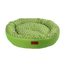 Dubex - Dubex Tarte Fıstık Yeşili Yuvarlak Kedi Köpek Yatağı