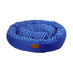 Dubex - Dubex Tarte Parlament Mavisi Yuvarlak Kedi Köpek Yatağı