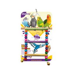 Eurobrid - EuroBird Kuş Oyuncağı Boncuklu Merdiven