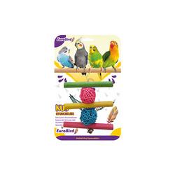 Eurobrid - EuroBird Kuş Oyuncağı Üçlü Tahta Merdiven