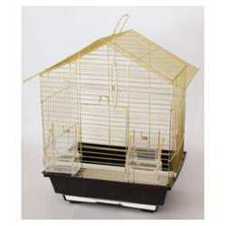 Eurogold - Eurogold Üçgen Çatılı Pirinç Kuş Kafesi