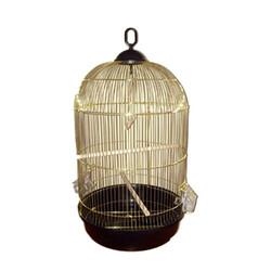 Eurogold - EuroGold Salon Kuş Kafesi Yuvarlak Pirinç