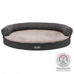 Trixie - Trixie Köpek Yatağı ve Sofası, Ortopedik ve Oval,Koyu Gri & Açık Gri