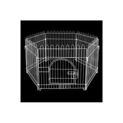 Zampa - Zampa Beyaz Metal Köpek Çiti